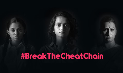Blue Cross Laboratories asks girls, young women & mothers to #BreakTheCheatChain in the second phase of its digital compaign against painful periods a.k.a. dysmenorrhea