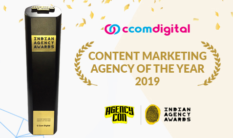 C Com Digital won Content Marketing Agency Award for the Year 2019